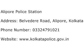 Alipore Police Station Address Contact Number