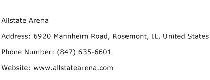 Allstate Arena Address Contact Number