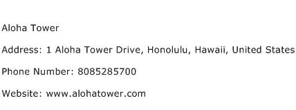 Aloha Tower Address Contact Number