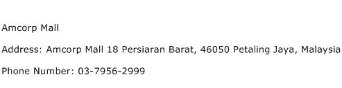 Amcorp Mall Address Contact Number