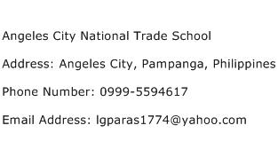 Angeles City National Trade School Address, Contact Number ...