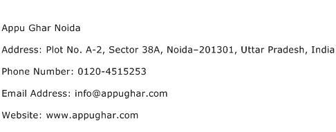 Appu Ghar Noida Address Contact Number