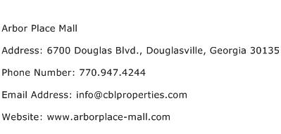 Arbor Place Mall Address Contact Number