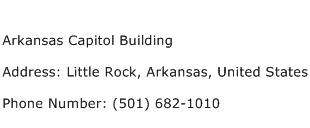 Arkansas Capitol Building Address Contact Number