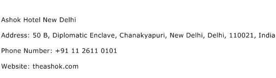 Ashok Hotel New Delhi Address Contact Number
