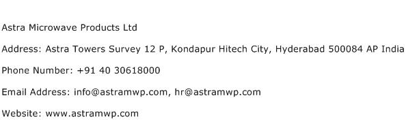 Astra Microwave Products Ltd Address Contact Number