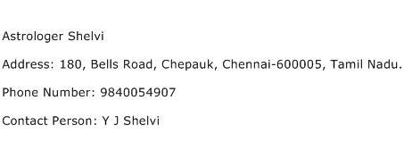 Astrologer Shelvi Address Contact Number