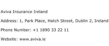 Aviva Insurance Ireland Address, Contact Number of Aviva ...
