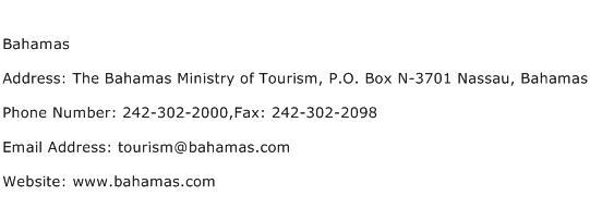 Bahamas Address Contact Number