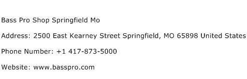 Bass Pro Shop Springfield Mo Address Contact Number