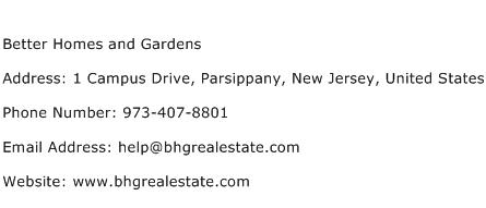 Better Homes And Gardens Address Contact Number Of Better Homes And Gardens