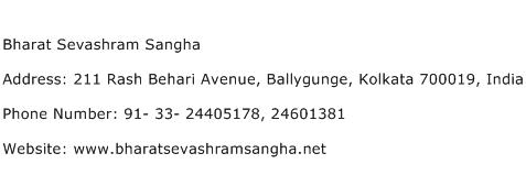 Bharat Sevashram Sangha Address Contact Number