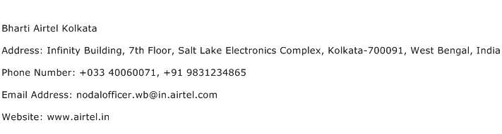 Bharti Airtel Kolkata Address Contact Number