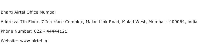 Bharti Airtel Office Mumbai Address Contact Number