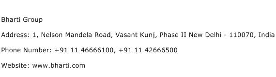Bharti Group Address Contact Number