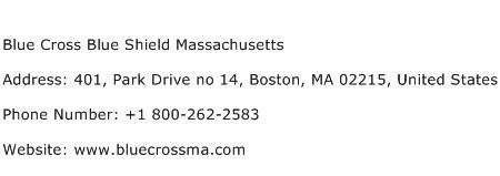 Blue Cross Blue Shield Massachusetts Address Contact Number
