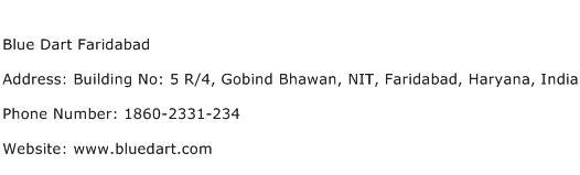Blue Dart Faridabad Address Contact Number