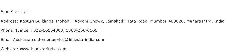 Blue Star Ltd Address Contact Number