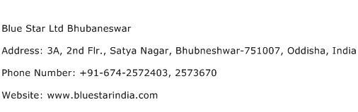 Blue Star Ltd Bhubaneswar Address Contact Number