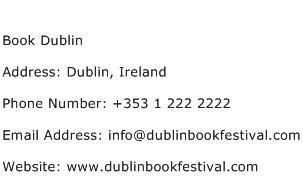 Book Dublin Address Contact Number
