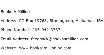 Books A Million Address Contact Number