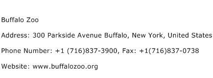 Buffalo Zoo Address Contact Number