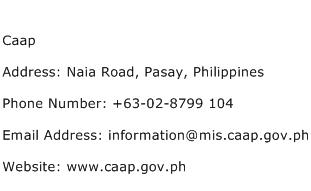 Caap Address Contact Number