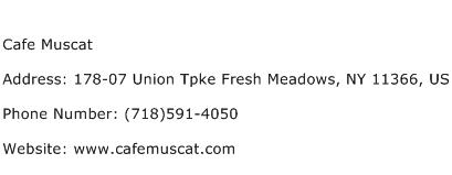 Cafe Muscat Address Contact Number