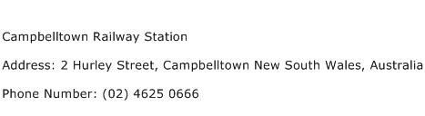 Campbelltown Railway Station Address Contact Number