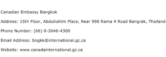 Canadian Embassy Bangkok Address Contact Number