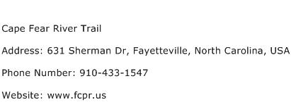 Cape Fear River Trail Address Contact Number