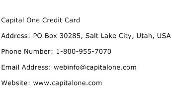 capital one credit card application contact number