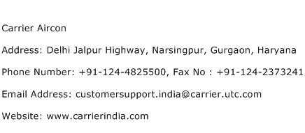 Carrier Aircon Address Contact Number