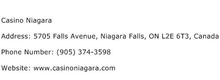 Casino Niagara Address Contact Number
