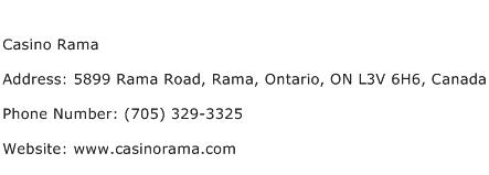 Casino Rama Address Contact Number