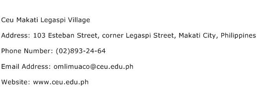 Ceu Makati Legaspi Village Address Contact Number