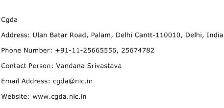 Cgda Address Contact Number