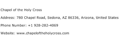 Chapel of the Holy Cross Address Contact Number