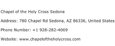 Chapel of the Holy Cross Sedona Address Contact Number