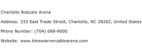 Charlotte Bobcats Arena Address Contact Number