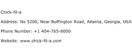 Chick fil a Address Contact Number
