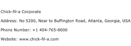 Chick fil a Corporate Address Contact Number