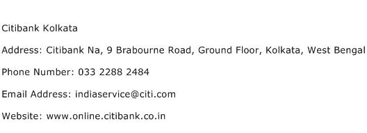 Citibank Kolkata Address Contact Number