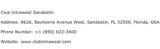 Club Intrawest Sandestin Address Contact Number
