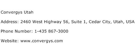 Convergys Utah Address Contact Number