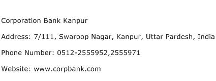 Corporation Bank Kanpur Address Contact Number