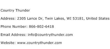 Country Thunder Address Contact Number