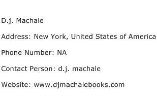 D.j. Machale Address Contact Number