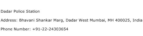 Dadar Police Station Address Contact Number