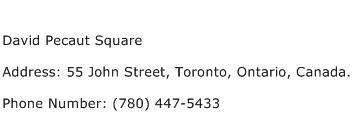 David Pecaut Square Address Contact Number